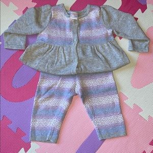Gymboree baby girl knit sweater outfit